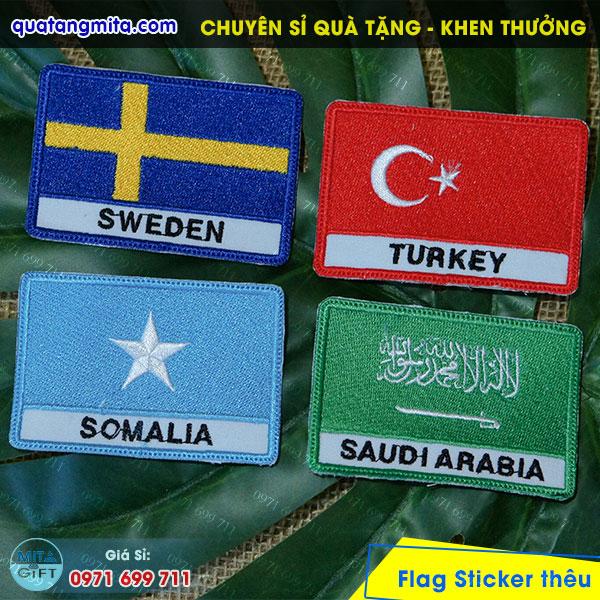 Thêu cờ các nước Cần Thơ