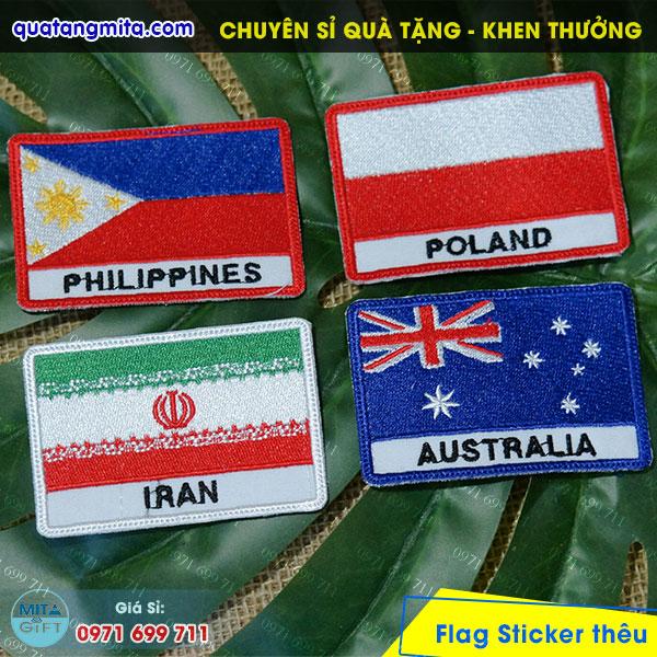 Thêu cờ các nước tại Cần Thơ